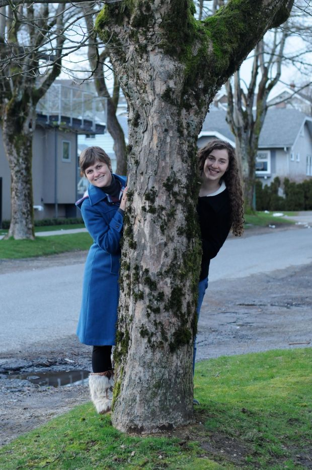 In March we returned to Canada and made our way back to the Yukon.  I stopped in Vancouver to visit my wonderful relatives.  This is my cousin Mari.  We take a picture like this nearly every time I visit!