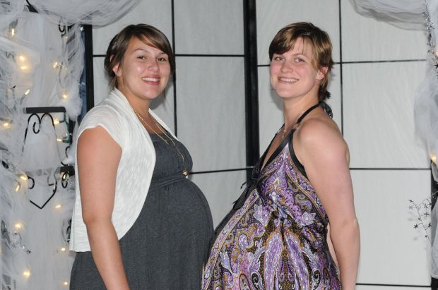 "Prego ladies!  This was at the highschool grad - the day before I left for my ""waiting period"" in Whitehorse."