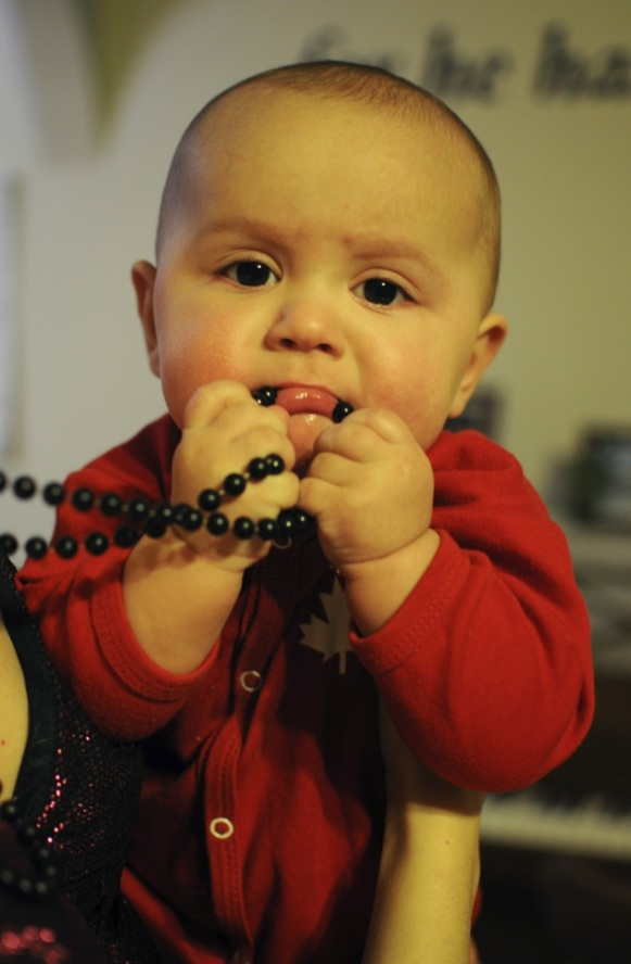 he loved the beads!