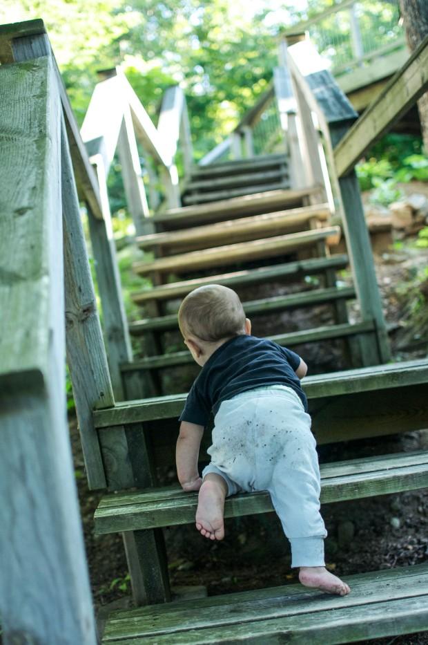 so many stairs to climb!