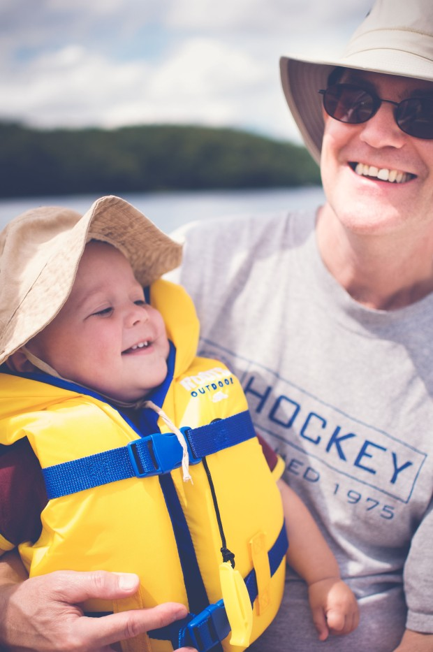 enjoying the boat