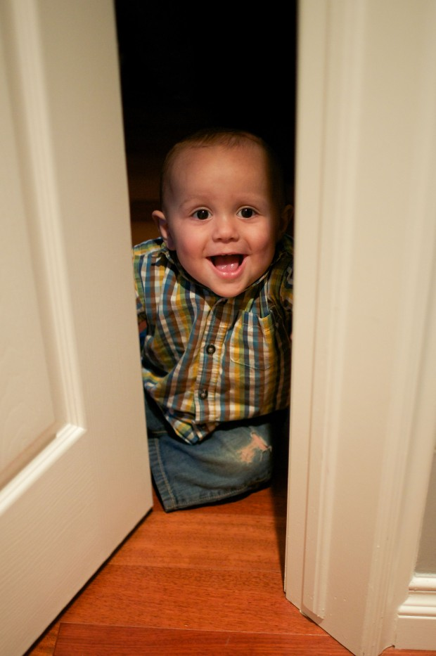 he has a thing for doors lately...