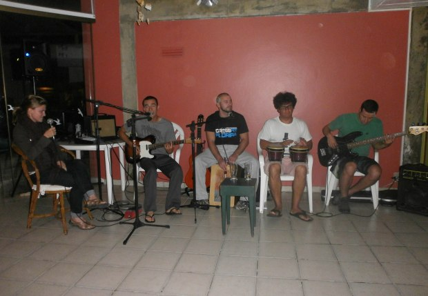 jamming with friends one night