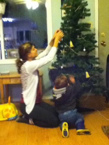 helping decorate