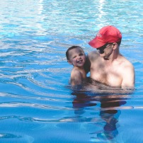 """playing with """"Dampa"""" in the pool"""