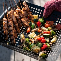 Yummmmmm. And aren't grill baskets the best?