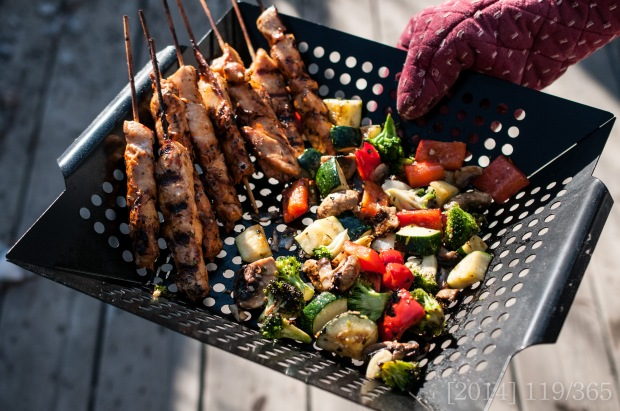 Yummmmmm.  And aren't grill baskets the best?