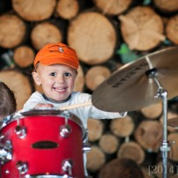 Shasta absolutely LOVED playing the drums at the wedding on Saturday...