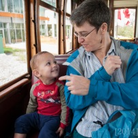 We rode the trolley for the first time