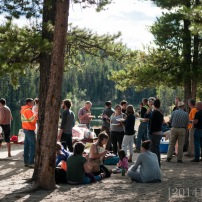 Our farewell potluck at Lucky Lake. We have so many wonderful friends.