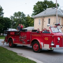 Our friend took us for a ride on his firetruck!!