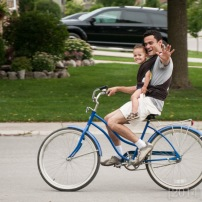 """He loved biking with Daddy on Cathy's bike """"Betsy"""""""