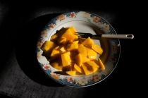 Mangoes are my favourite fruit. I eat one almost every day.