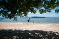 At a beach in a neighbourhood called Santo Antonio.