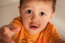someone had chocolate milk... :)