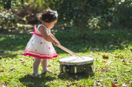 Little drummer girl.