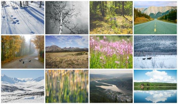 yukon calendar collage