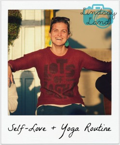 self love yoga routine polaroid